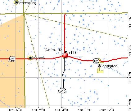 Ralls, TX map