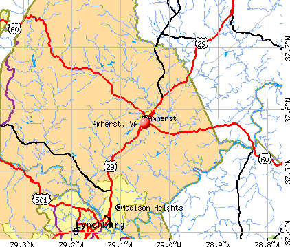 Amherst, VA map