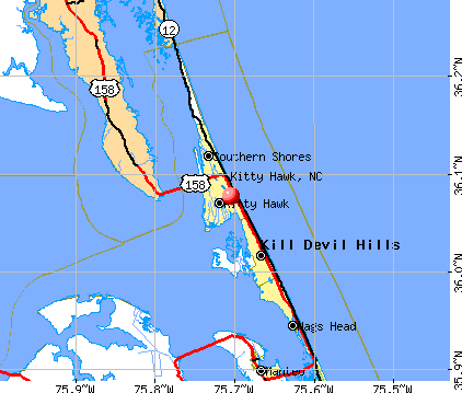 Kitty Hawk, NC map