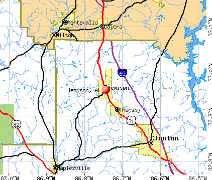 Jemison, AL map