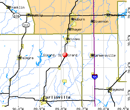 Girard, IL map