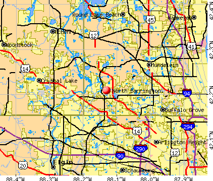 North Barrington, IL map