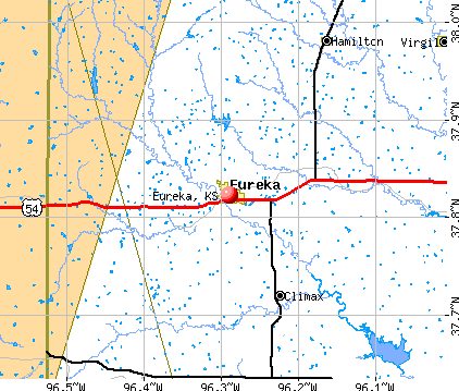 Eureka, KS map