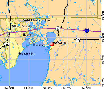 Anahuac, TX map