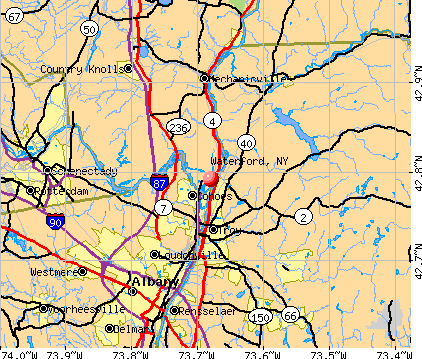 Waterford, NY map