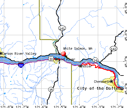 White Salmon, WA map