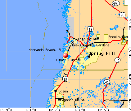 Hernando Beach, FL map