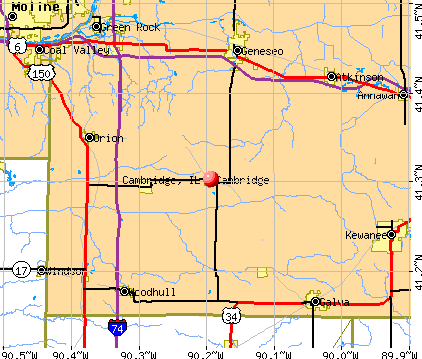 Cambridge, IL map