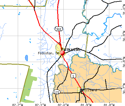 Folkston, GA map
