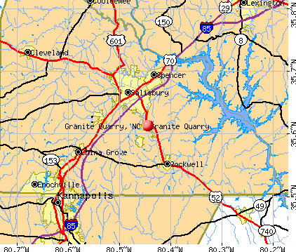 Granite Quarry, NC map