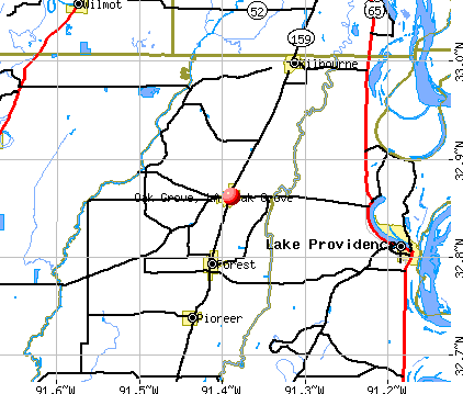 Oak Grove, LA map