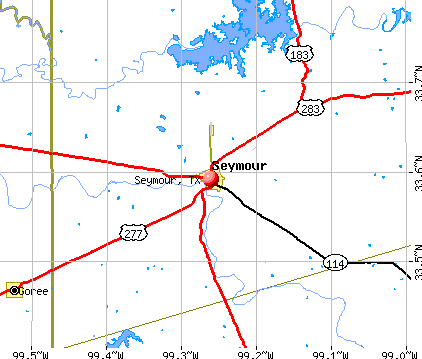 Seymour, TX map