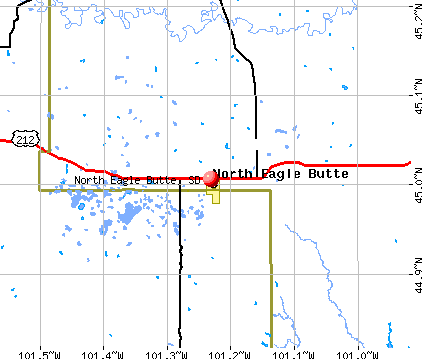 North Eagle Butte, SD map