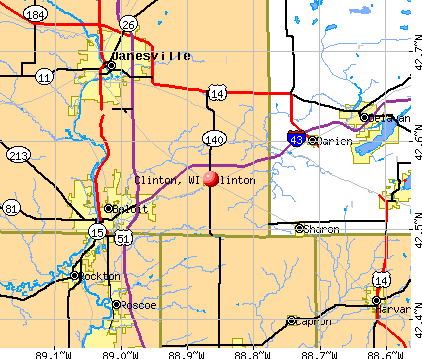 Clinton, WI map
