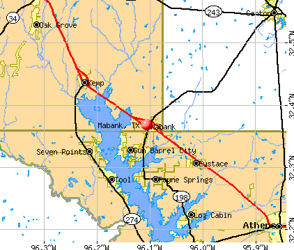 Mabank, TX map