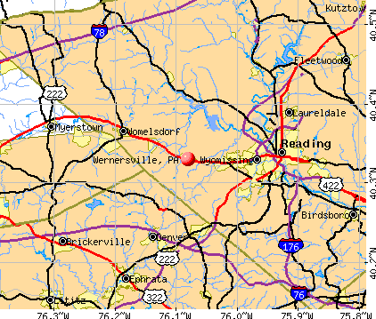Wernersville, PA map