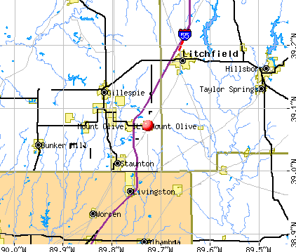 Mount Olive, IL map
