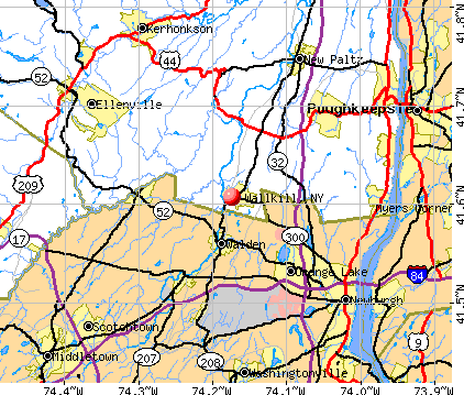 Wallkill, NY map