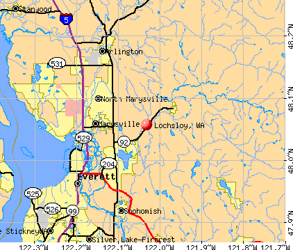 Lochsloy, WA map