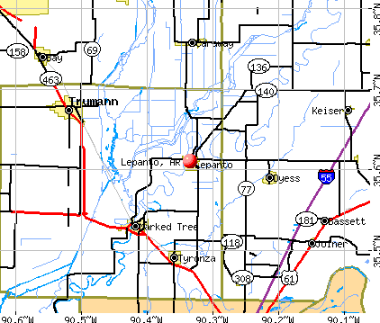 Lepanto, AR map