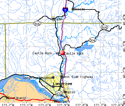 Castle Rock, WA map