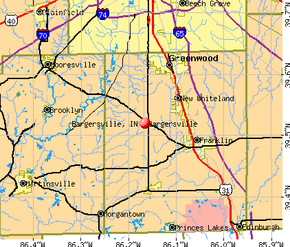 Bargersville, IN map