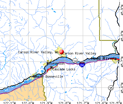 Carson River Valley, WA map