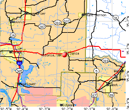 Vilonia, AR map