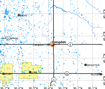 Langdon, ND map