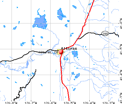 Alturas, CA map