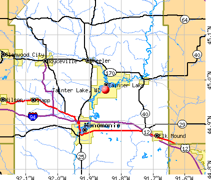 Tainter Lake, WI map