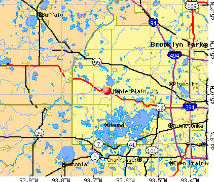 Maple Plain, MN map