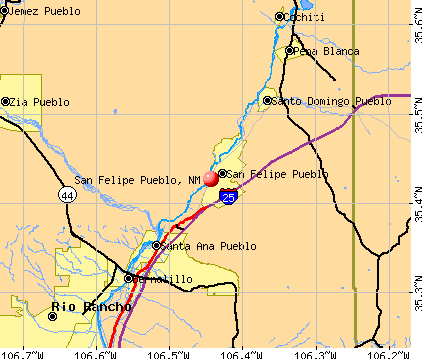 San Felipe Pueblo, NM map