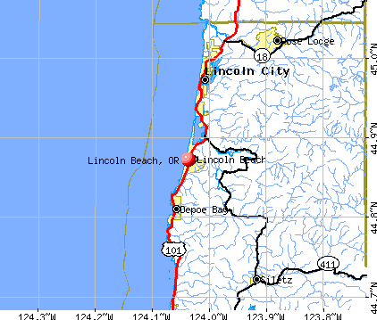 Lincoln Beach, OR map