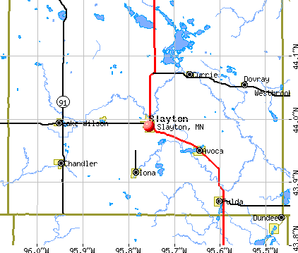 Slayton, MN map