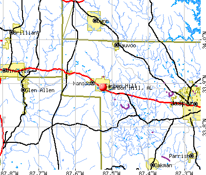 Carbon Hill, AL map