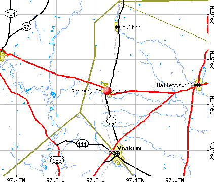 Shiner, TX map