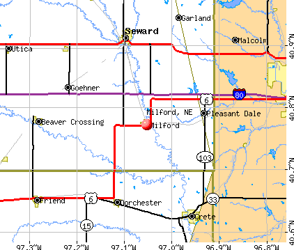Milford, NE map