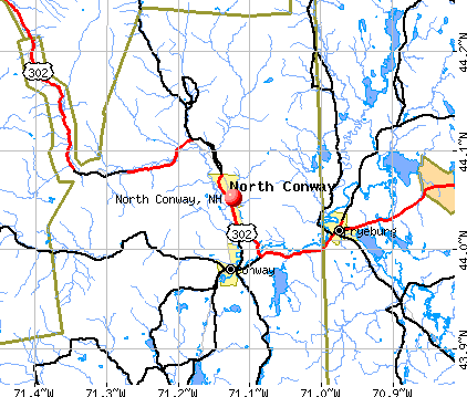 North Conway, NH map