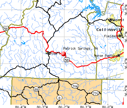 Patrick Springs, VA map