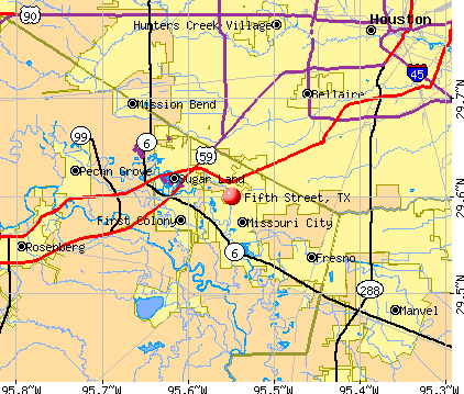 Fifth Street, TX map