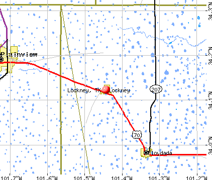 Lockney, TX map