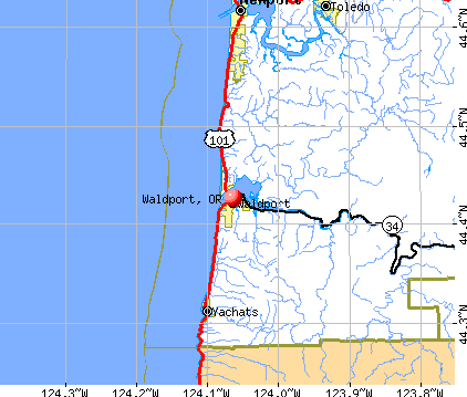 Waldport, OR map