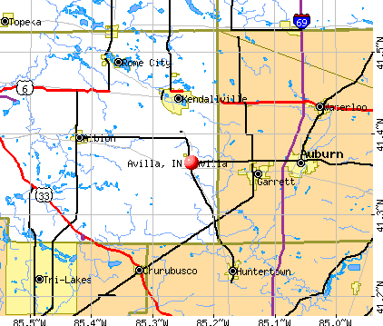 Avilla, IN map