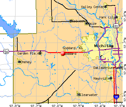 Goddard, KS map
