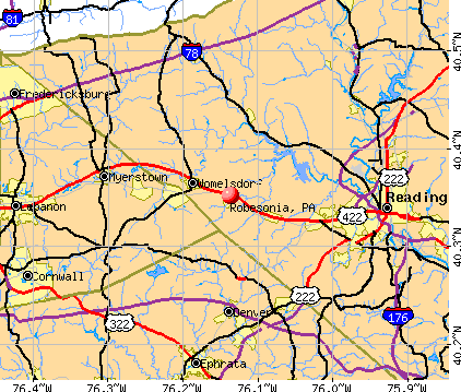 Robesonia, PA map