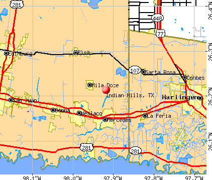 Indian Hills, TX map