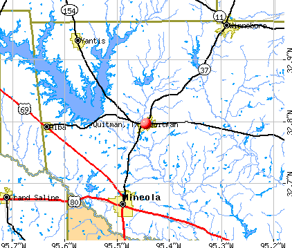 Quitman, TX map