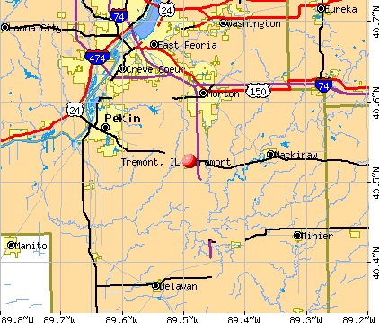 Tremont, IL map