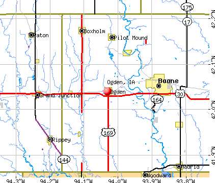 Ogden, IA map